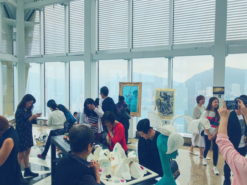 The start of the exhibition. People from everywhere in the city came to take part of the event