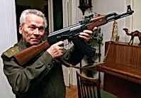 Iconic Mikhail Kalashnikov