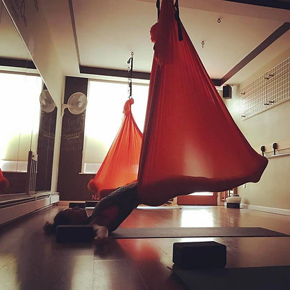 PAST WORKSHOPS 2018- Aerial Yin With Meditation July 5th, 7:30-9:00 p.m.