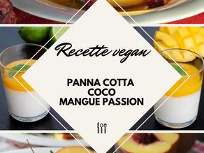 Recette de panna cotta mangue coco passion vegan