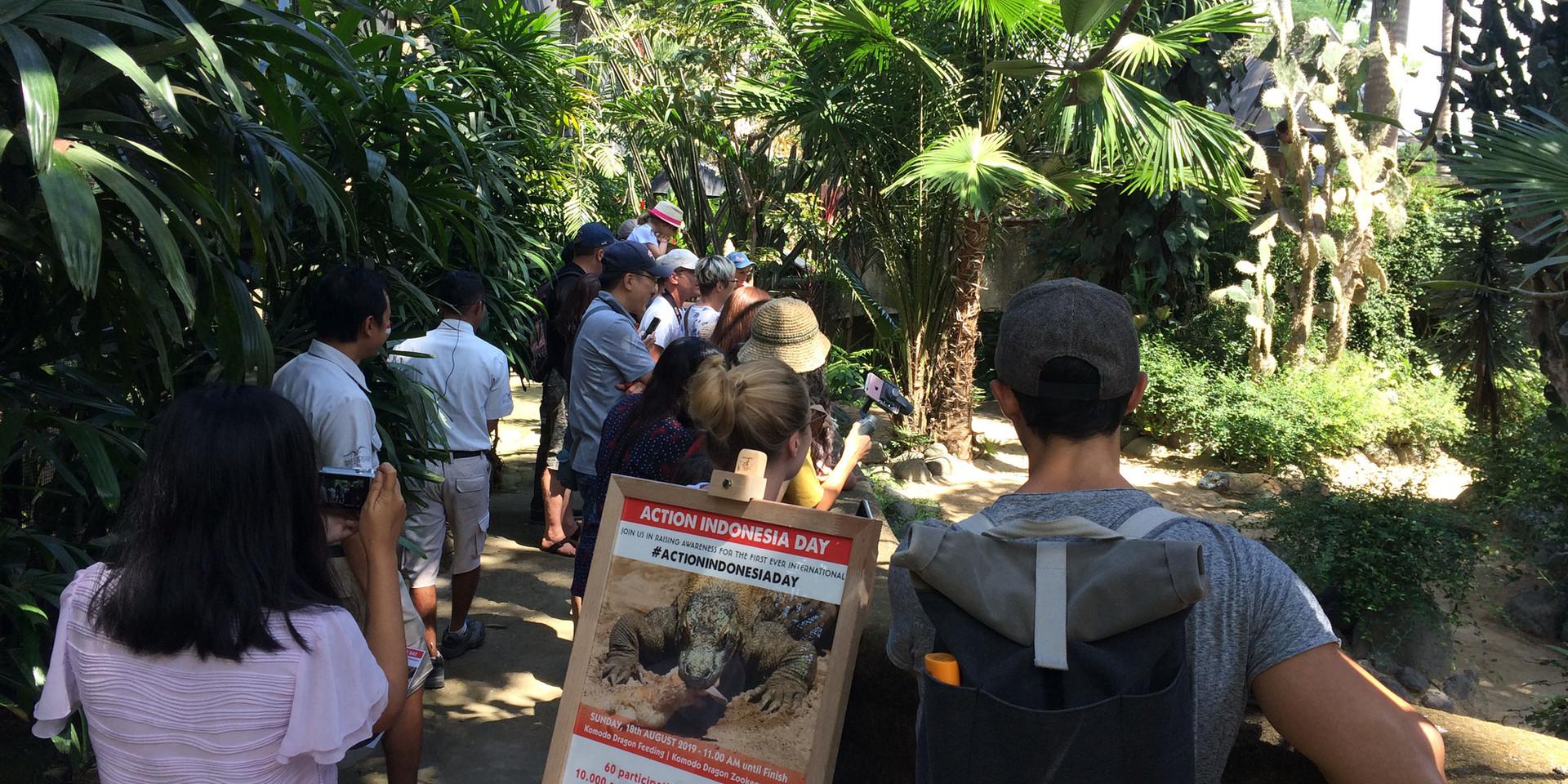 Action Indonesia Day di Bali Bird Park.j