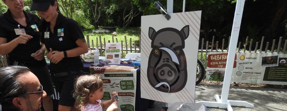 Pin the tusks on the Babirusa