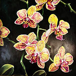Yellow orchid painting