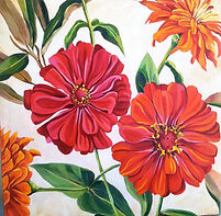 painted zinnias