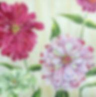 Pink zinnia painting