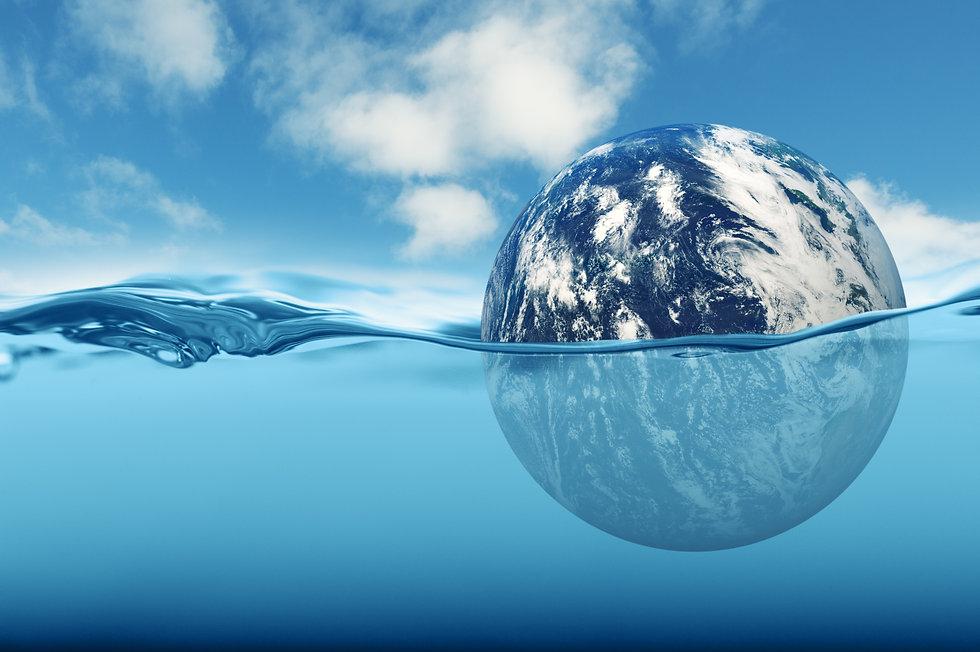 Earth rising sea level concept.jpg