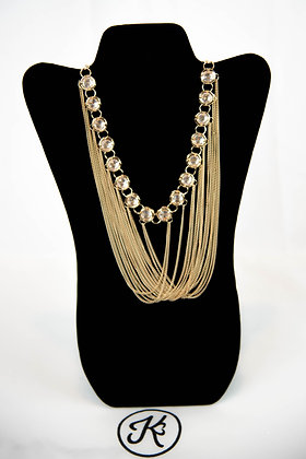 Gold Strings Necklace