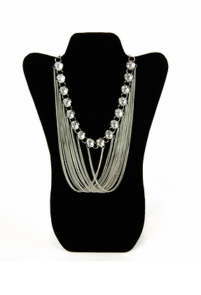 Silver Strings Necklace