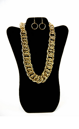Thick Gold Link Set