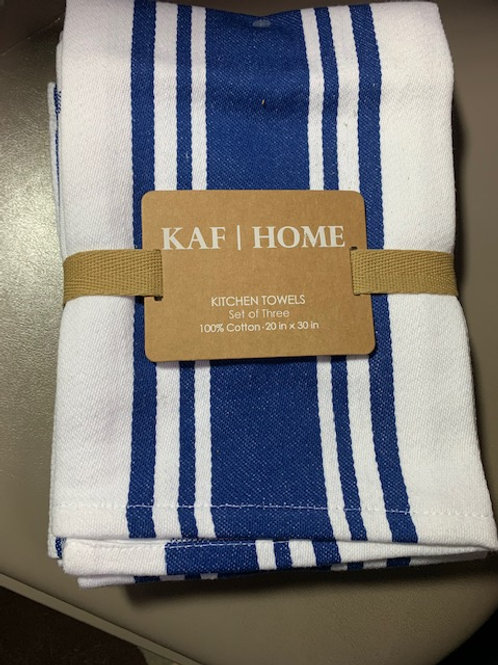 Set of 3 kitchen towels - blue