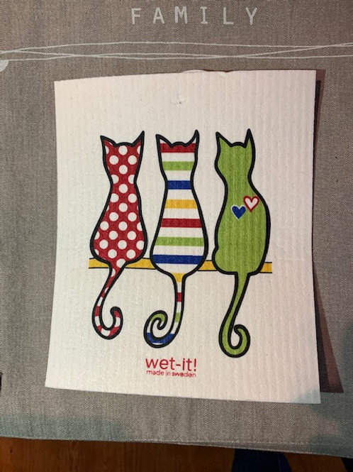 Swedish cloth - cats