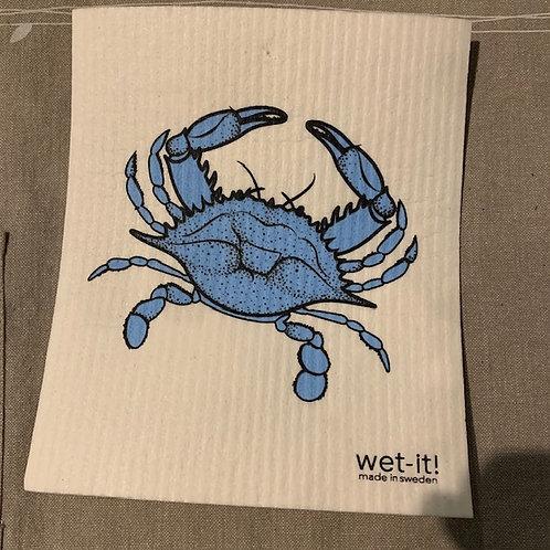Swedish cloth - blue crab