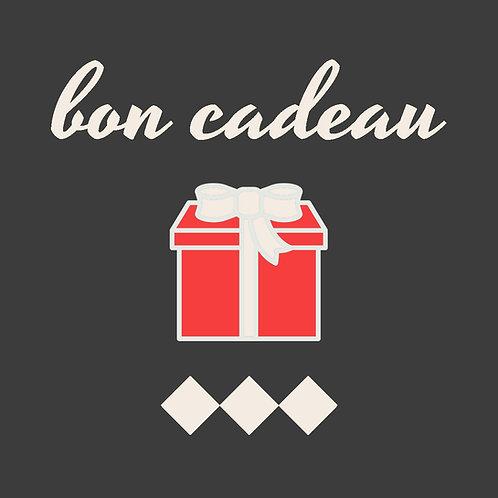 Bon cadeau valable sur nos boutiques en ligne