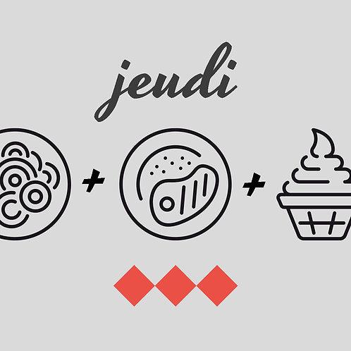 Salade avocat crevette,  quenelles et gâteau de foies de volaille, crème brûlée