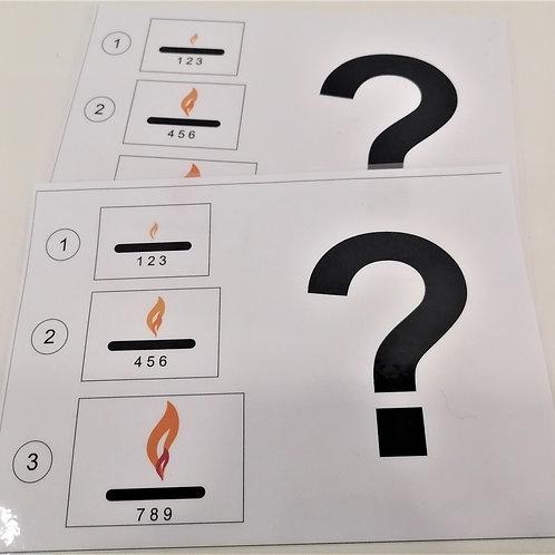"""Карточки с вопросом """"Выбор нагрева"""""""