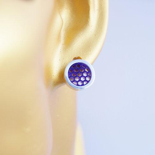 Post Earrings Purple