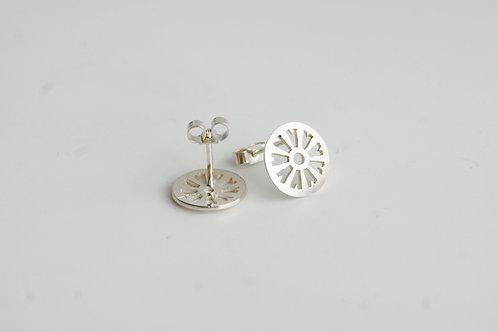 Diatom Post Earrings
