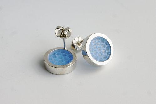 Post Earrings Pale Blue
