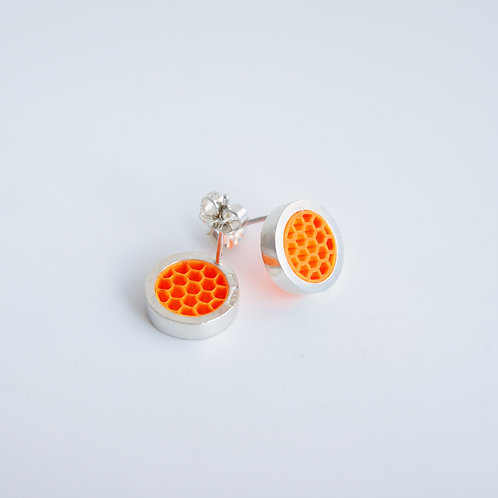Post Earrings Orange