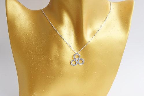 Textured hexagon cluster pendant