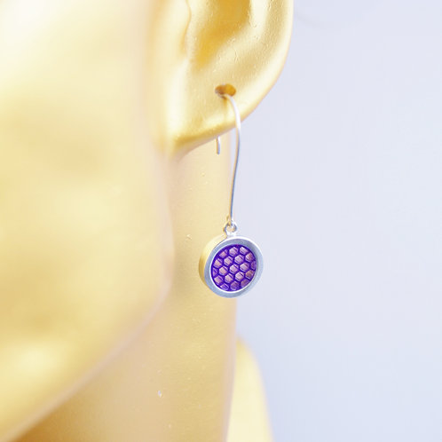 Drop Earrings Purple
