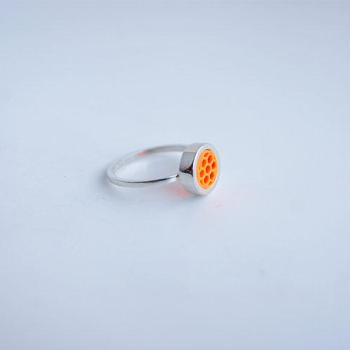 Mini Hexagon Ring Orange