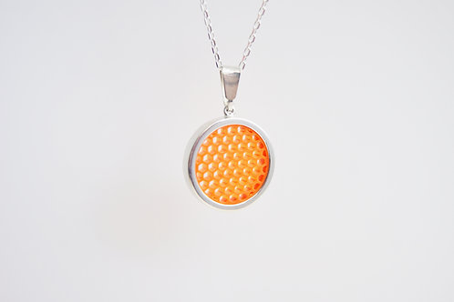 Micro Hexagon Pendant Orange