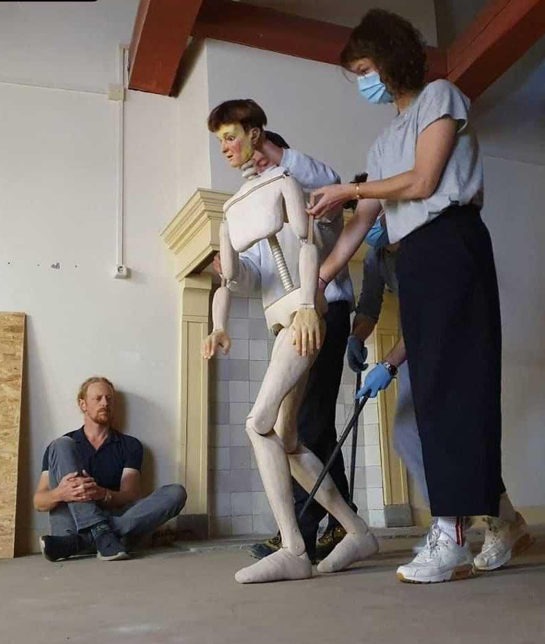 Three person puppet