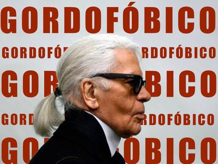 Anticondolências à gordofobia de Karl Lagerfeld