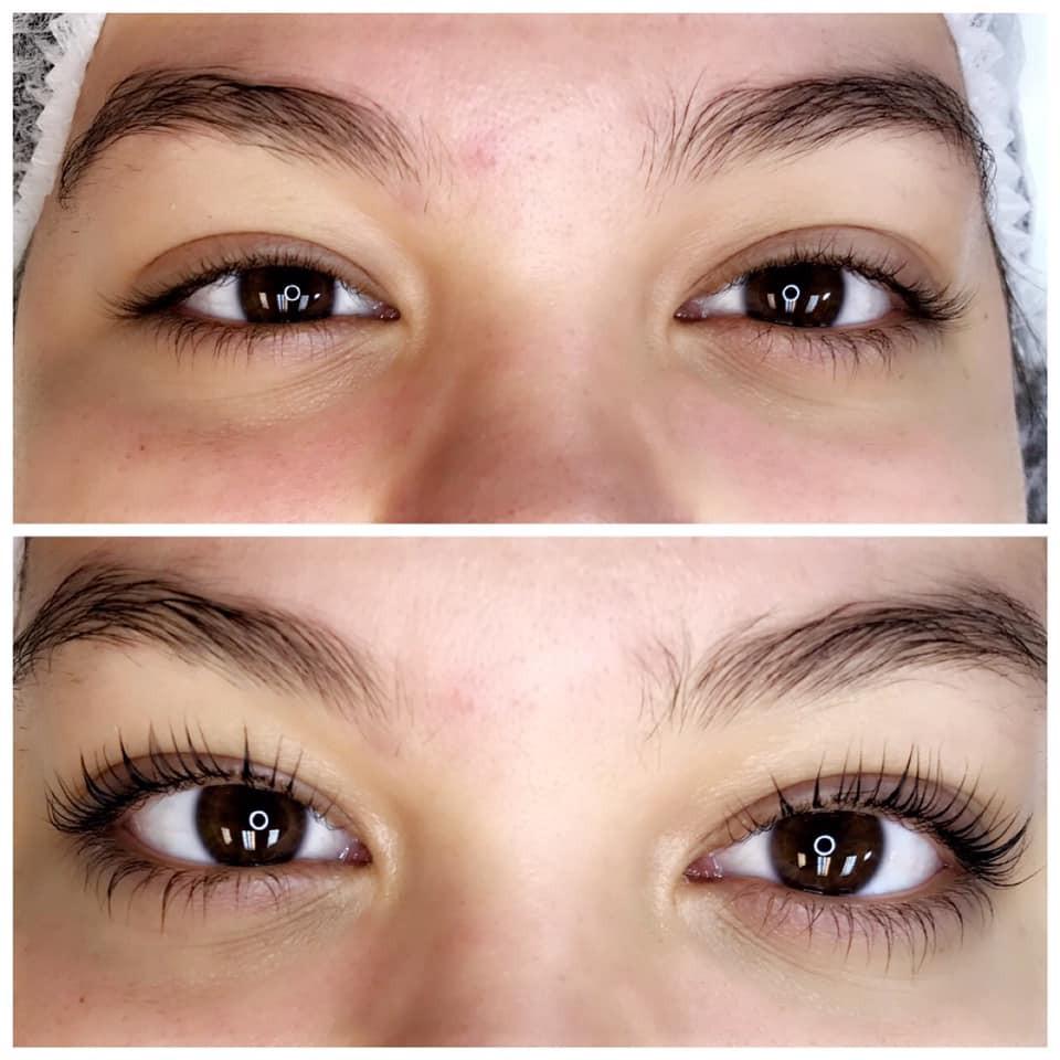 Keratin Lash Lift Before and After