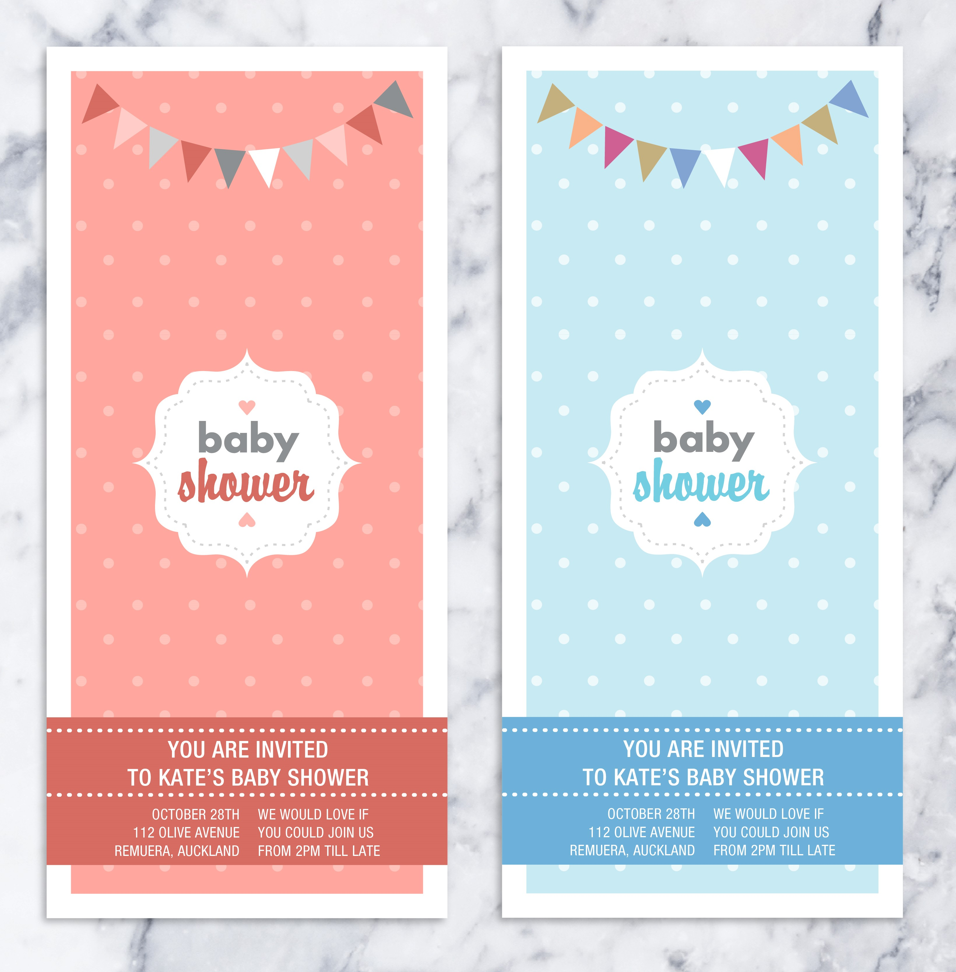 Baby Shower Polka Dot