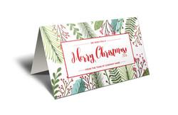 Chrismas cards-L-leaves