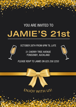 Golden Bow Invite