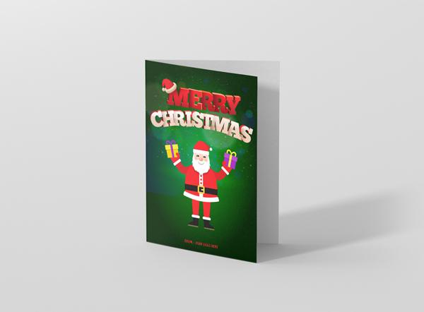 Christmas-card-P-santa-hold-gifts