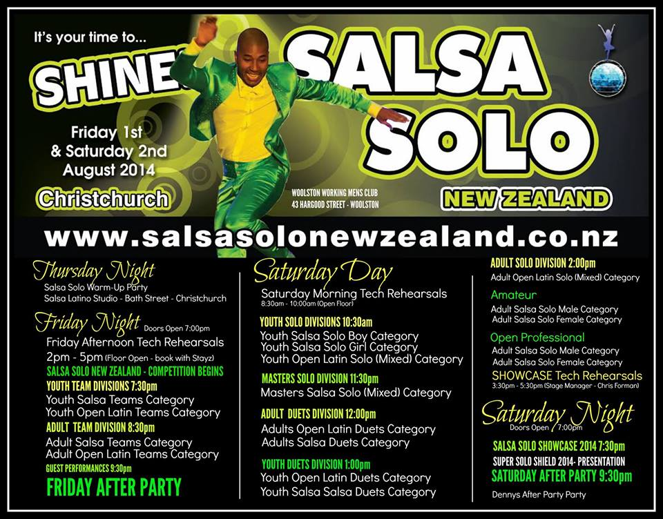 Judges for NZ Salsa Competition