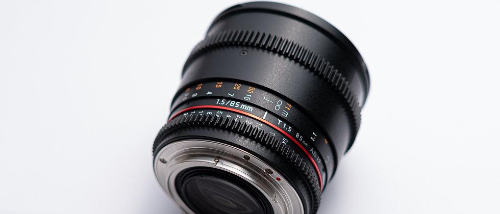 Samyang 85/T1.5 EF