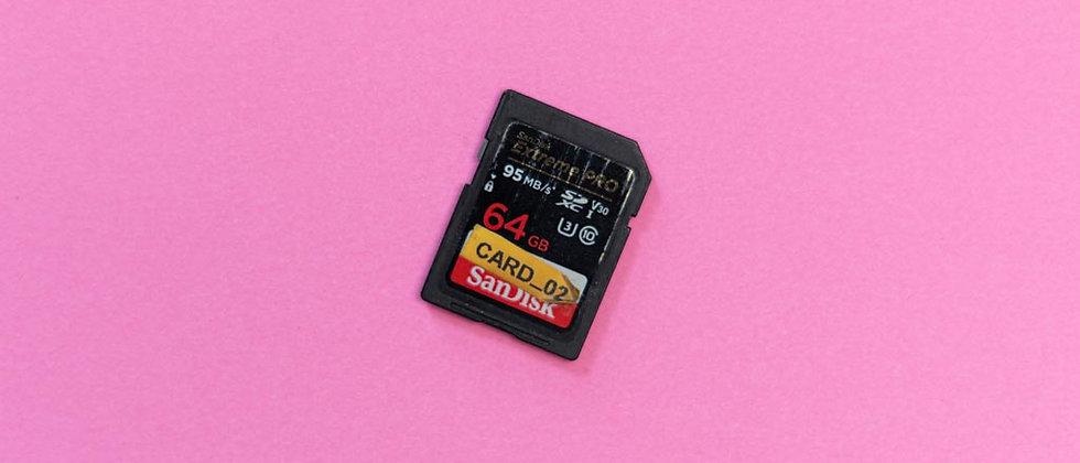 64GB SanDisk Extreme Pro SDXC