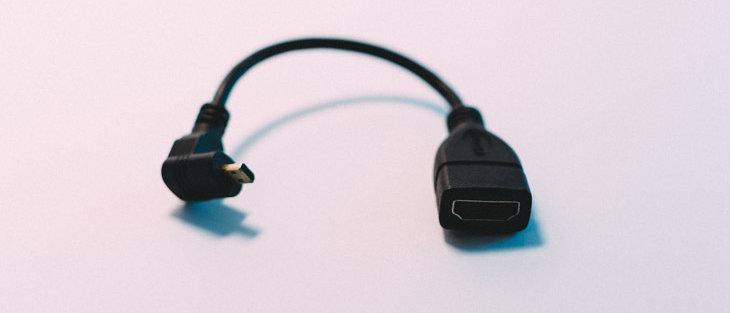 """Micro HDMI Elbow to Female HDMI 6"""""""