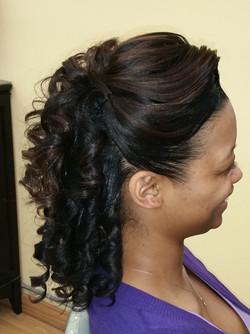 Curls w/pin-up