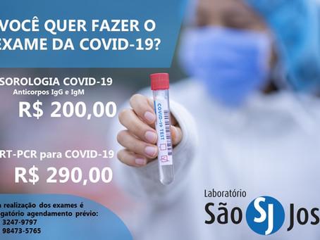 Você quer fazer o exame da COVID-19?