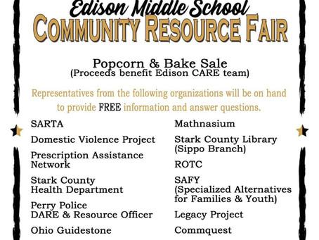 Edison Middle School Community Resource Fair!