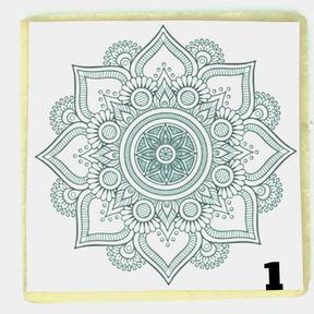 Mandala Pattern 1 PYO cookie, CT