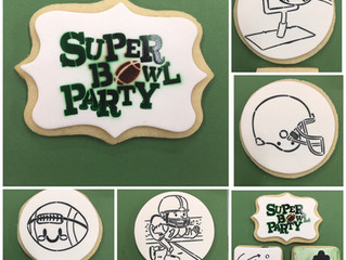 Super Bowl Cookies and Paint Your Own Cookies.