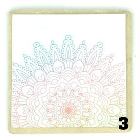 Colorful Mandala Design, PYO Cookie, CT