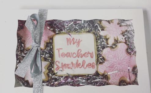My Teacher Sparkles Cookies
