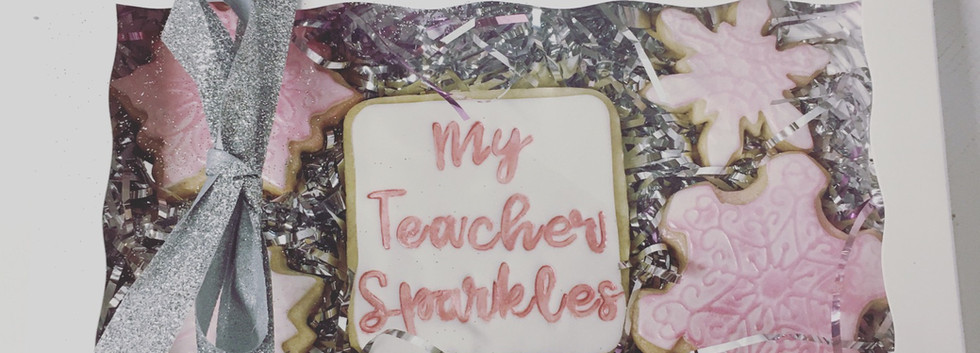 My Teacher Sparkles Cookies