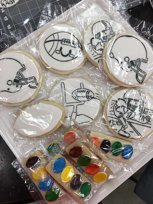 Football 5 Cookie  (Paint Your Own) Cookie Kit
