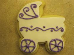 white and purple carrage