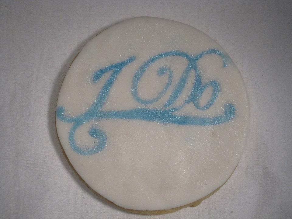 I Do wedding favor Cookie