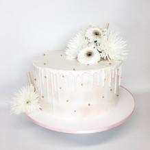 White Blush Pink and Gold Cake, Custom C